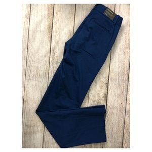 NWT J Crew Trouser Pants 0 Fitted Stretch Blue